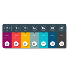 Infographic business template with step or option vector