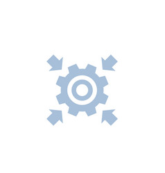 integration concept icon with cogwheel vector image