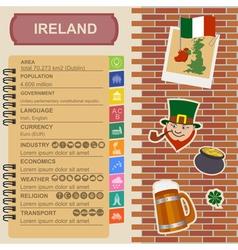 Ireland infographics statistical data sights vector image