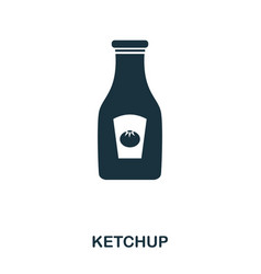 ketchup icon mobile apps printing and more usage vector image
