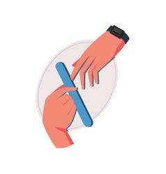 Manicure flat vector
