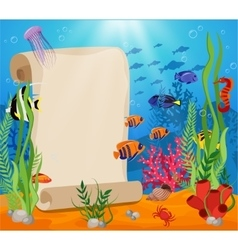 Marine Life Composition vector image