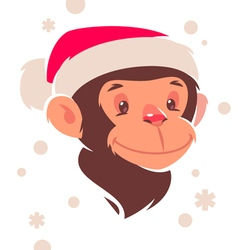 monkey new year vector image