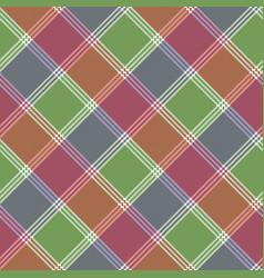 Mosaic pixel check plaid seamless pattern vector