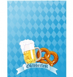 Oktoberfest celebration vector image