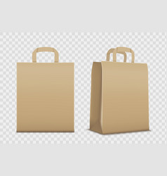 paper empty shopping bag template vector image