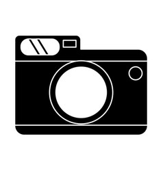 photo camera picture travel pictogram vector image