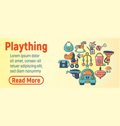 Plaything concept banner cartoon style vector