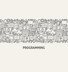 programming banner concept vector image