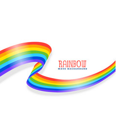 rainbow wavy ribbon or flag background vector image