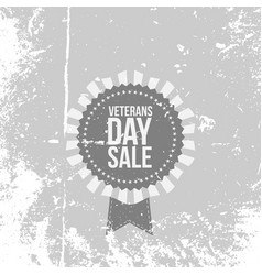 retro banner with veterans day sale text vector image
