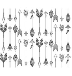 seamless texture with boho arrows with different vector image