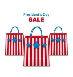 Set Shopping Bags in USA Patriotic Colors for vector image