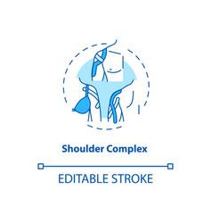Shoulder complex turquoise concept icon vector