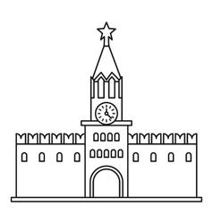 Spasskaya tower moscow kremlin icon vector