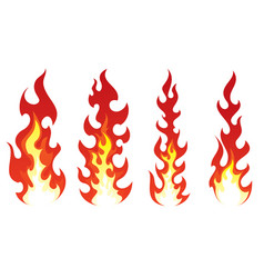Stylized fire on white background vector