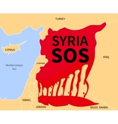 Syria Crisis Sos Refugee War Victims vector