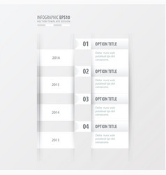 timeline white color vector image