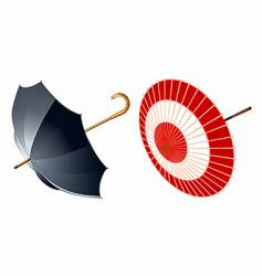 Two type of umbrellas vector
