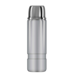 Vacuum thermo flask mockup realistic style vector