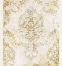 vintage baroque pattern background vector image