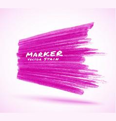 violet marker stroke stain perspective background vector image