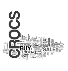 Where to buy crocs on sale text word cloud concept vector