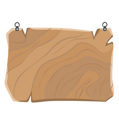wooden sign with metal clips hanging board vector image