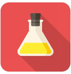 Closed test tube icon vector image vector image