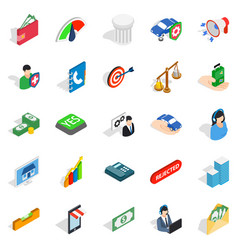 license icons set isometric style vector image