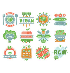organic vegan healthy food eco restaurant logo vector image