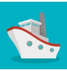 Boat travel isolated icon vector