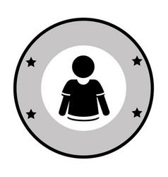 circular frame with player american football vector image