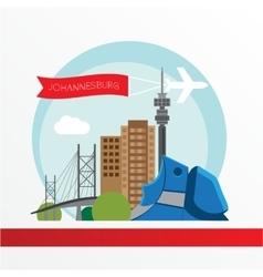 Johannesburg skyline detailed silhouette Trendy vector image