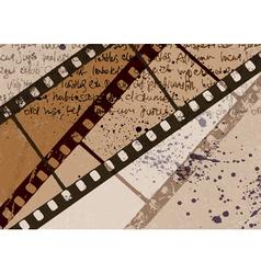 vintage film background vector image vector image