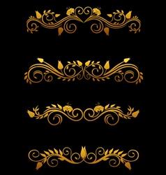 vintage floral elements vector image