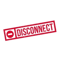 Disconnect rubber stamp vector image
