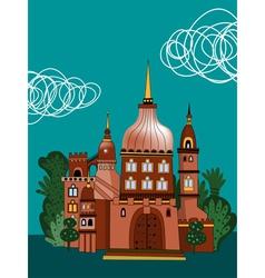 fantasy palace vector image vector image