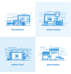flat line designed concepts 3 vector image vector image