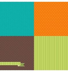 Seamless abstract retro pattern Stylish geometric vector image vector image