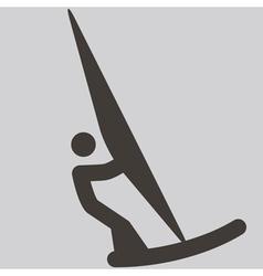 2291 sailing icon vector image