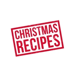 Christmas Recipes rubber stamp vector image