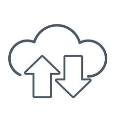 cloud computing technology symbol vector image vector image