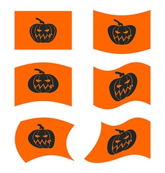 Flag Halloween Sign set for terrible holiday vector image vector image