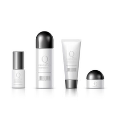 set of realistic cosmetic bottle vector image vector image