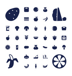 37 diet icons vector