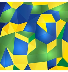 Abstract geometric Brazil flag vector image