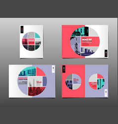 annual report template layout design cover book vector image