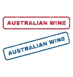 Australian Wine Rubber Stamps vector