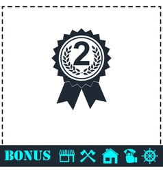 Award medals icon flat vector
